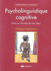 Psycholinguistique Cognitive - Couverture - Format classique