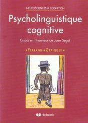 Psycholinguistique Cognitive - Intérieur - Format classique