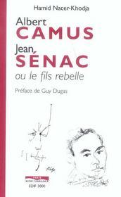 Albert camus, jean senac ou le fils moderne - Intérieur - Format classique