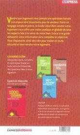 Bien Vendre Votre Logement ; Guides Cleon (Edition 2007-2008) - 4ème de couverture - Format classique