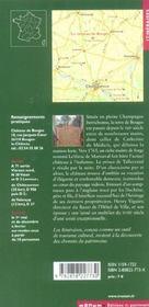 Le Chateau De Bouges - 4ème de couverture - Format classique