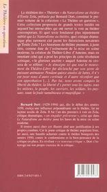 Le Naturalisme Au Theatre - 4ème de couverture - Format classique