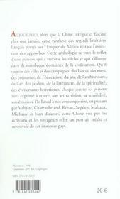 La Chine Vue Par Les Ecrivains Francais - 4ème de couverture - Format classique