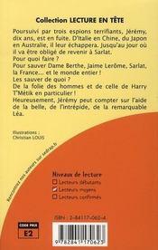 Rififi à Sarlat ; CM1/CM2 ; roman - 4ème de couverture - Format classique