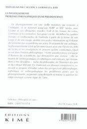 Physiognomonie (La) - 4ème de couverture - Format classique
