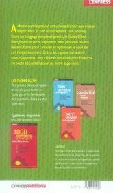 Bien Financer Votre Logement ; Guides Cleon (edition 2007-2008) - 4ème de couverture - Format classique
