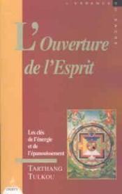 L'Ouverture De L'Esprit - Couverture - Format classique