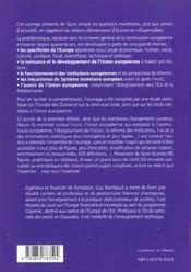 Comprendre Simplement L'Union Europenne Eco. Fi. Depuis Demonetisation Du Franc - 4ème de couverture - Format classique