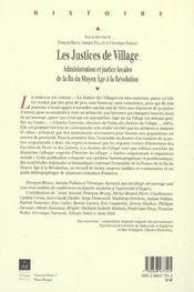 Justices De Village - 4ème de couverture - Format classique