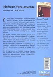 Itineraire D'Une Amazone - Cancer Du Sein - 4ème de couverture - Format classique