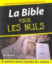 La Bible pour les nuls - Intérieur - Format classique