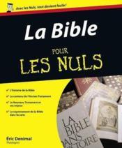 La Bible pour les nuls - Couverture - Format classique