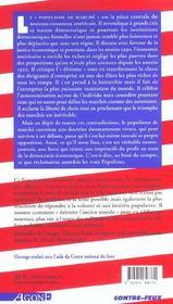 Marche De Droit Divin (Le) - 4ème de couverture - Format classique