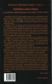 Guerillero Contre Franco - 4ème de couverture - Format classique