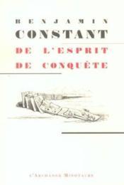 De L'Esprit De Conquete - Couverture - Format classique