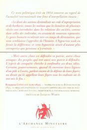 De L'Esprit De Conquete - 4ème de couverture - Format classique