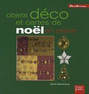 Objets déco et cartes de Noël en papier - Intérieur - Format classique