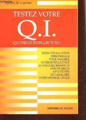 Testez Votre Q.I - Couverture - Format classique