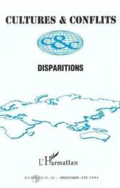 Disparitions - Couverture - Format classique