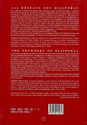 Reseaux Des Diasporas - 4ème de couverture - Format classique