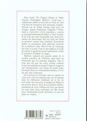Histoire Du Docteur Johannes Faustus ; La Tragique Histoire Du Docteur Faustus - 4ème de couverture - Format classique