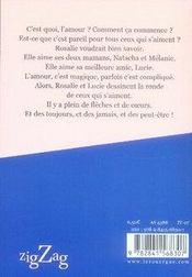 À mes amour(e)s - 4ème de couverture - Format classique