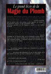 La grand livre de la magie du plomb - 4ème de couverture - Format classique