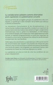 La Revolution Des Reseaux ; La Collaboration Solidaire Comme Alternative Post-Capitaliste A La Globalisation Actuelle - 4ème de couverture - Format classique