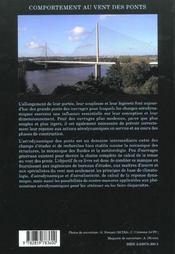 Comportement Au Vent Des Ponts - 4ème de couverture - Format classique