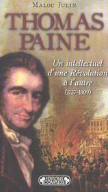 Thomas paine, un intellectuel d'une revolution a l'autre, 1737-1809 - Intérieur - Format classique