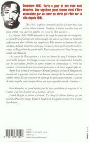 Itineraire Du Tueur De L'Est Parisien ; Le Cas Guy Georges - 4ème de couverture - Format classique