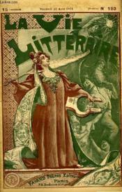 Le Vertige. La Vie Litteraire. - Couverture - Format classique
