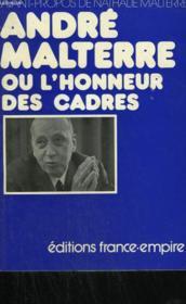 Andre Malterre Ou L'Honneur Des Cadres. - Couverture - Format classique