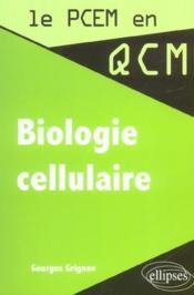 Biologie cellulaire - Couverture - Format classique