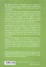 Tours Extraordinaires De Mathemagique - 4ème de couverture - Format classique