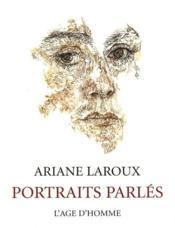 Portraits parlés - Couverture - Format classique