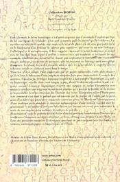 Le Sceptre Et La Lyre - 4ème de couverture - Format classique