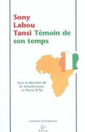Sony Labou Tansi, Temoin De Son Temps - Intérieur - Format classique