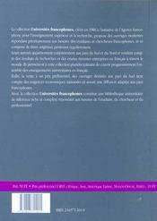 Protection Patrimoine Culturel Dans Pays Francophones - 4ème de couverture - Format classique