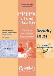Prépa à l'oral d'anglais ; security issues - Intérieur - Format classique