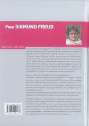 Pour Sigmund Freud - 4ème de couverture - Format classique