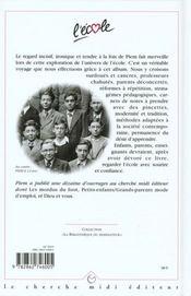 L'Ecole - 4ème de couverture - Format classique