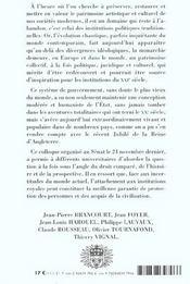 Monarchie Patrimoine Europeen Pour Le 21e Siecle - 4ème de couverture - Format classique