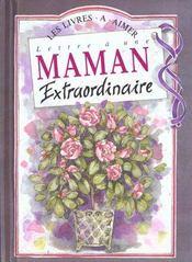 Lettre Maman Extraordinaire - Intérieur - Format classique