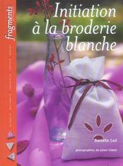 Initiation A La Broderie Blanche - Intérieur - Format classique