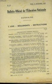Bulletin Officiel De L'Education Nationale N°34 - Couverture - Format classique