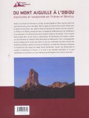 Du mont aiguille a l'obiou - 4ème de couverture - Format classique