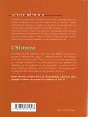 L'Histoire Les Faits Les Arguments Un Sujet Corrige Culture Generale - 4ème de couverture - Format classique