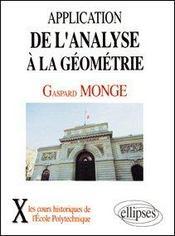 Application De L'Analyse A La Geometrie (1807) - Intérieur - Format classique