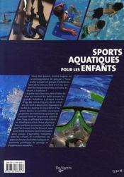 Sports aquatiques pour les enfants - 4ème de couverture - Format classique